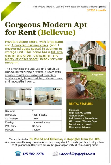 Create FREE Real Estate Ads On GoGoPin RE Tech World