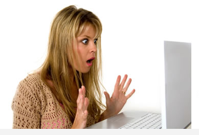 Shocked Computer User